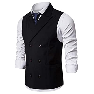 lexiart Mens Fashion Suits Vest Slim Fit Tank Top Business Dress Waistcoat at Amazon Men's Clothing store