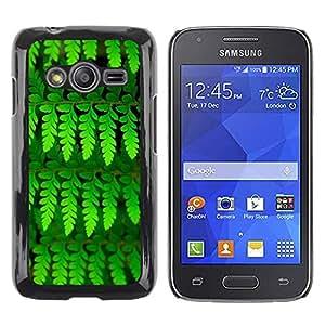 Be Good Phone Accessory // Dura Cáscara cubierta Protectora Caso Carcasa Funda de Protección para Samsung Galaxy Ace 4 G313 SM-G313F // Leaves Green Vibrant Summer Nature