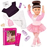 "Our Generation by Battat- Sydney Lee 18"" Deluxe Posable Ballerina Doll with Book & Accessories- for Age 3 Years & Up"