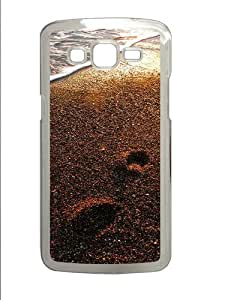 Foot prints on the sand Custom Samsung Grand 7106/Samsung Grand 2 Case Cover Polycarbonate Transparent