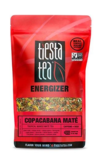 (Tiesta Tea Copacabana Mate, Tropical Mango Mate Tea, 200 Servings, 1 Pound Bag, High Caffeine, Loose Leaf Mate Tea Energizer Blend)