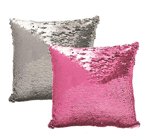 (Lets be Mermaids Sequin Reversible Decorative Colorful Throw Decorative Pillow Couch Sofa Bed 16