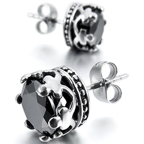 INBLUE Stainless Steel Earrings Silver