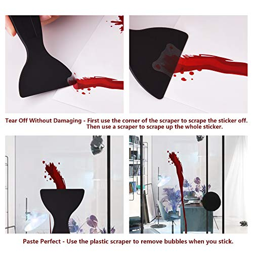 OTBBA Halloween Decorations(40 PCS), Horror Bloody Handprints&Footprints Stickers Halloween Decor Vampire Zombie Party Decals with One Plastic Scraper by OTBBA (Image #5)