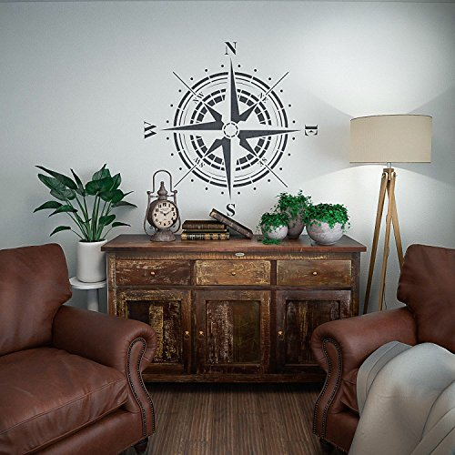 Traveler- Compass Rose Stencil - Reusable Stencil for Painting by StencilsLab Wall Stencils (Image #4)