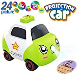 PBOX Projector Car Toys for Baby Boys and Girls,3D Projections Toys with 24 Cartoon Pattern Light Show Preschool Educational Toy for Toddler Kids Age 3 4 5 6 Years Old