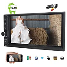 Rear Camera included EinCar 7 inch Android6.0 Car stereo in Dash Car No DVD Player with 16G ROM GPS Navigation 3D Map Support Bluetooth Car Monitor Car Steering Wheel/Mirror Link/WIFI/USB/3G/OBD2