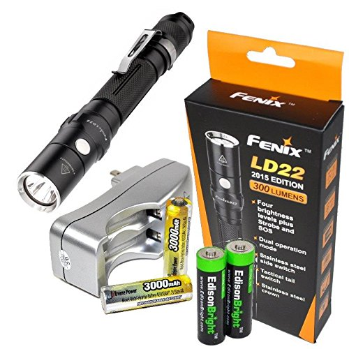 LD22 Flashlight rechargeable Batteries EdisonBright product image