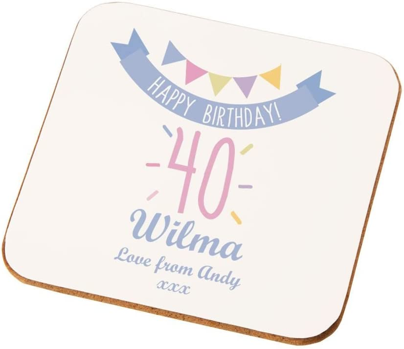 60th  Birthday Happy Gift Present Idea Women Female Her Keepsake Lady/'s Coaster