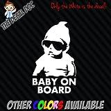 BABY ON BOARD Carlos Hangover Die Cut Vinyl Decal Sticker Car 6