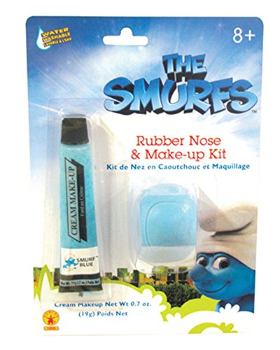 The Smurfs: Smurf Makeup and Nose (Halloween Smurfs)