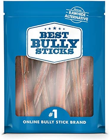 Best Bully Sticks Premium Thick Bully Sticks - All-Natural, Grain-Free, 100% Beef, Single-Ingredient Dog Treat Chew Promotes Dental Health