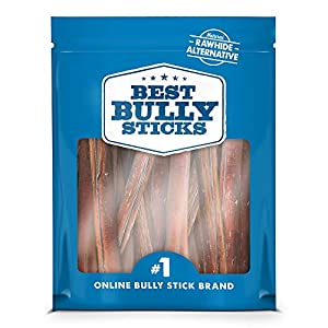 Best Bully Sticks Premium Thick Bully Sticks - All-Natural, Grain-Free, 100% Beef, Single-Ingredient Dog Treat Chew Promotes Dental Health 6