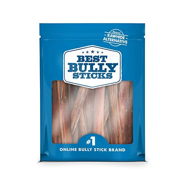 Best Bully Sticks Premium Thick Bully Sticks - All-Natural, Grain-Free, 100% Beef, Single-Ingredient Dog Treat Chew Promotes Dental Health 1