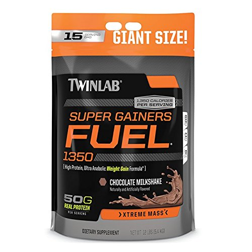 Twinlab Super Gainers Fuel 1350 Milkshake, Chocolate, 12 Pound