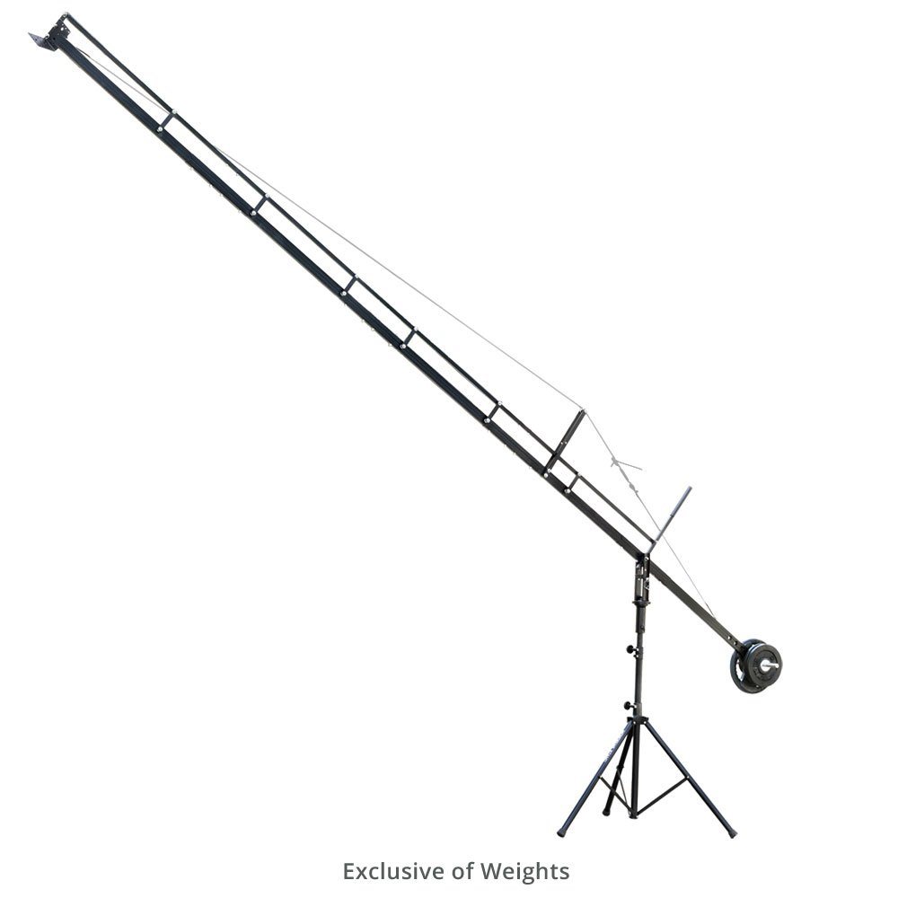 PROAIM 18ft Professional Camera Film Crane Jib, Tripod Stand (P-18-JS) for Cameras up to 8kg/17.6lbs with Carrying Bag | for DSLR Video Film Movie Production by PROAIM