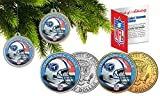 Licensed Tennessee Titans NFL Christmas Tree Ornament Colorized 24KT Gold JFK Half Dollar 2 Coin Set! W/H COA!