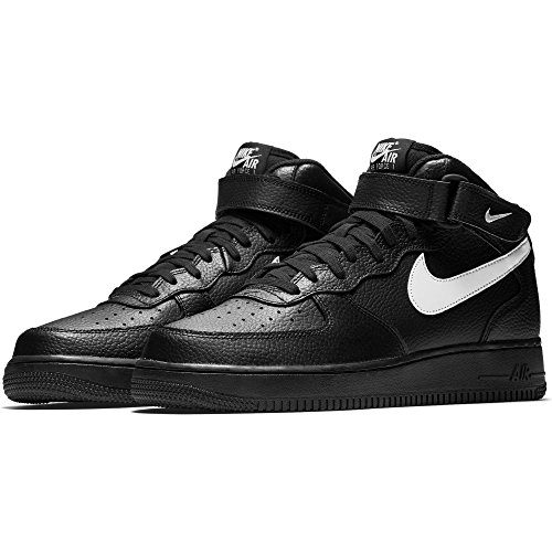 Nike Herren Air Force 1 Mid '07 Basketballschuh Schwarz / Segel (043)