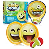Emoji Toss & Catch Ball Game   2 Disc Paddles, 2 Balls (One Big & One Small) & PVC Carry Bag Idea with Stunning Packaging   Safe, Durable & Family Friendly Game Set