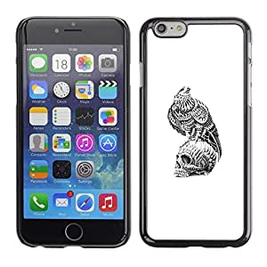Ihec Tech Cráneo Libertad Significado Profundo Hawk / Funda Case back Cover guard / for Apple Iphone 6 Plus 5.5