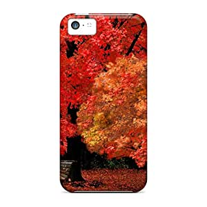 (otZ31583VNqG)durable Protection Cases Covers For Iphone 5c(red Autumn)