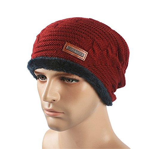 exterior MASTER beanie sombreros Halloween hat claro Sombreros Men Invierno Otoño Knit Sombreros Wine damas Red Navidad gris caliente tejido xEnrxqPwd0
