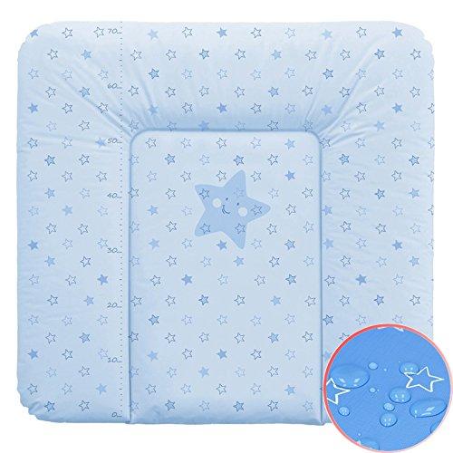Weiche Wickelauflage Vliesfü llung 70x75cm Sterne blau Wickeltischauflage Baby Auflage Wickeln Ceba Baby