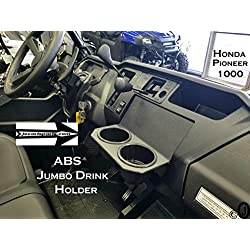 J & O Carts Parts for Honda Pioneer 1000 Jumbo Dash Cup Holder 3/16 Thick ABS Plastic Holds a YETI