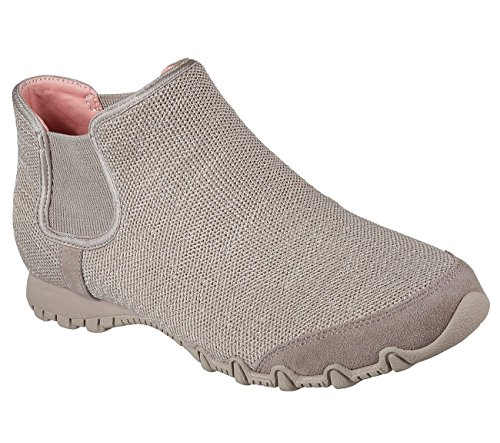 Skechers Relaxed Fit Bikers Runaway Womens Ankle Bootie Taupe 8.5