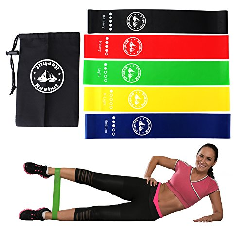 REEHUT Resistance Loop Exercise Bands for Fitness Workout, P