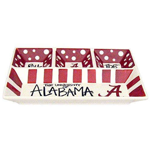 Magnolia Lane Collegiate Ceramic 4 Section Divided Tray (Alabama Crimson Tide)
