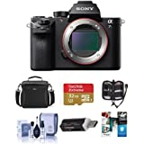 Sony Alpha a7S II Mirrorless Digital 4K Camera, - Bundle with Camera Bag, 32GB SDHC U3 Card, Cleaning Kit, Memory Wallet, Card Reader, Software Package