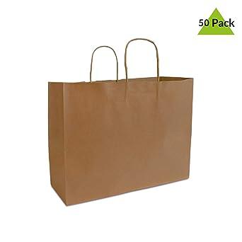 Amazon.com: Bolsas de papel kraft marrón de 16.0 x 6.0 x ...