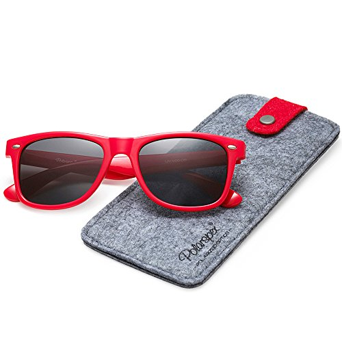 Polarspex Polarized 80's Retro Classic Trendy Stylish Sunglasses for Men - Mens Sunglasses Red