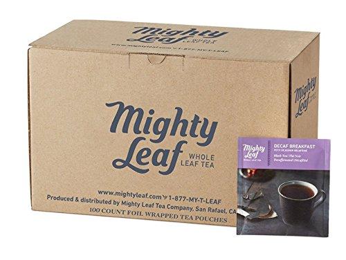 Mighty Leaf Tea, Decaf Breakfast Tea, 100ct Bulk Tea Pouches (Tea Leaf Earl Mighty Loose Grey)