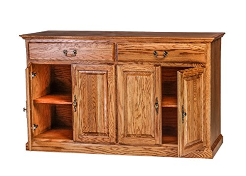 Forest Designs Traditional Oak Buffet: 72W x 36H x 18D 72w Honey (Honey Oak Buffet)