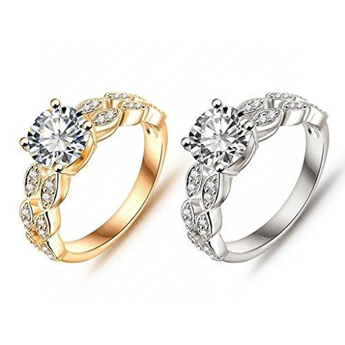 daesar gold plated rings womens cubic zirconia rings