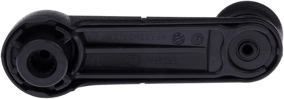 2pcs INEEDUP Door Handles Replacement for 1987-1996 for Ford Bronco F-150 F-250 F-350 Interior Window Crank Driver Passenger Side Black
