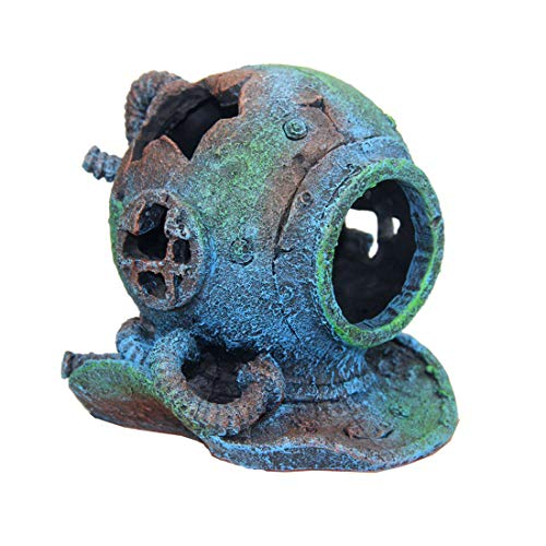 **Free Shipping** Penn Plax Diving Helmet Medium Ornament