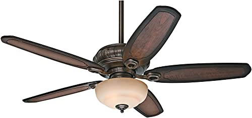 Hunter Indoor Ceiling Fan with light and pull chain control – Kingsbridge 54 inch, Roman Bronze, 54140