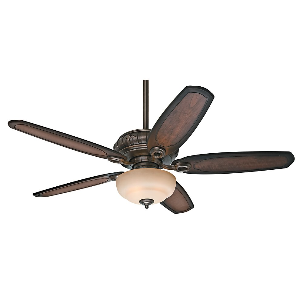 Outdoor ceiling fan with light and remote - Hunter 54140 Kingsbridge 54 Ceiling Fan With Light Roman