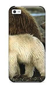 YOEprpP7196ivtiQ Anti-scratch Case Cover ZippyDoritEduard Protective Grizzly Bears Case For Iphone 5c