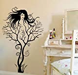 Creative Sexy Girl Tree Removable Wall Sticker Decal Home Decor Vinyl Mural Art 1pcs