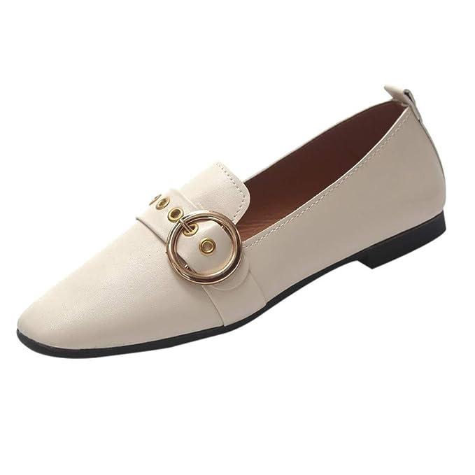 Bestow Zapatillas Individuales de Cabeza Cuadrada, Zapatos Planos, Boca Baja, Zapatos pequeños, Zapatos de Mujer.: Amazon.es: Ropa y accesorios