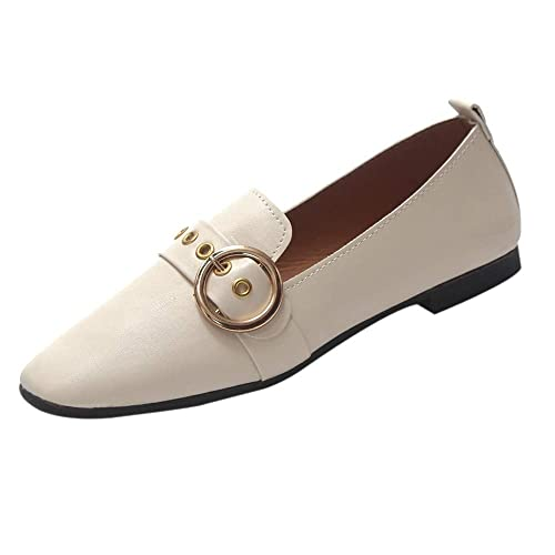 Zapatos Planos Mujer,Amlaiworld Moda Zapatos de Mujer británicos Zapatos de Boca Baja Zapatos Planos Botas Mocasines Zapatillas Calzado niña Primavera ...