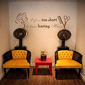 Amazon.com: Life Is Too Short To Have Boring Hair Beauty Salon Shop ...