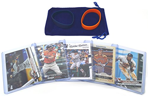 Carlos Correa Baseball Cards Assorted (5) Gift Bundle - Houston Astros Trading Cards Toys