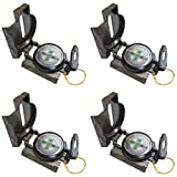 Fangstar 4 Pack Camping Multi-Functional Military Compass, Waterproof and Earthquake-Proof Outdoor...
