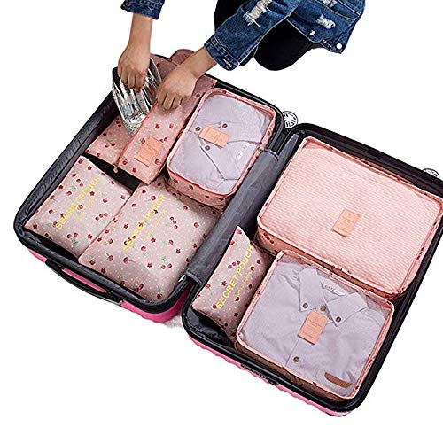 7 Set Travel Storage Bags Packing cubes Multi-functional Clothing Sorting Packages,Travel Packing Pouches,Luggage Organizer