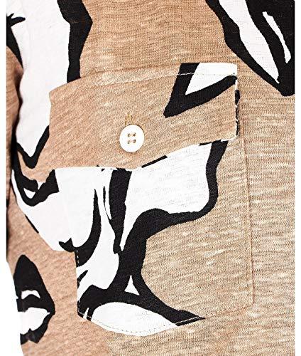 Majestic Lino Camicia Filatures J069fch014678 Donna Marrone qwgBRq7